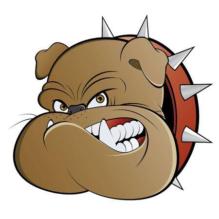 diente caricatura: vigilante de dibujos animados enojado