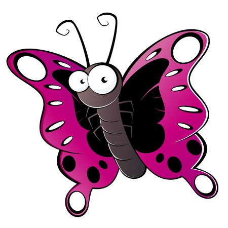 butterfly isolated: funny cartoon butterfly
