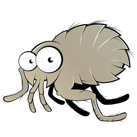 amused: funny cartoon flea