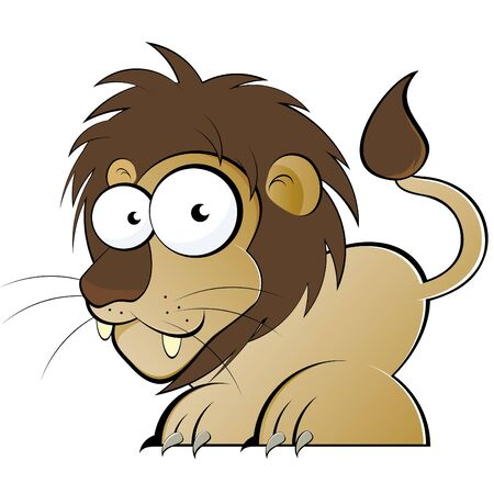 funny cartoon lion Vector