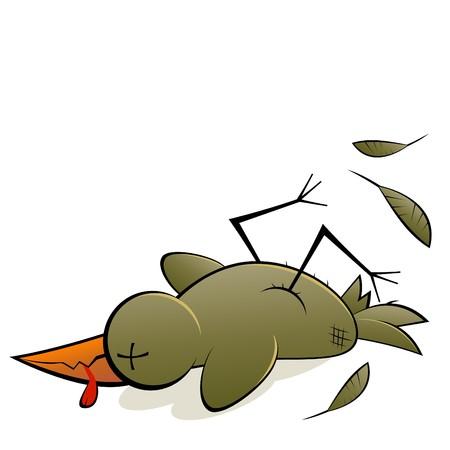 grappige vogel cartoon
