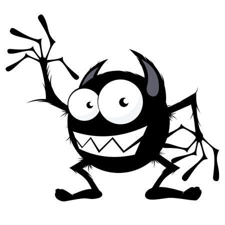 creepy monster: mostro divertenti cartoni animati Vettoriali