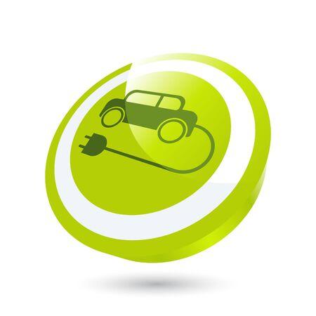 modern electric car sign Stock Vector - 7332904