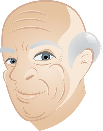 happy grandpa cartoon Vector