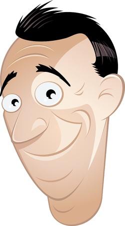 smirk: funny cartoon man is smiling
