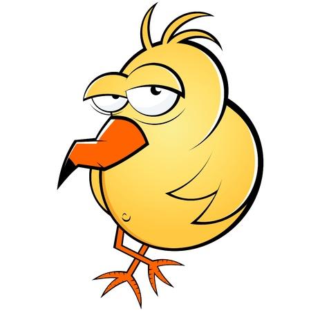 comic characters: funny lazy cartoon bird