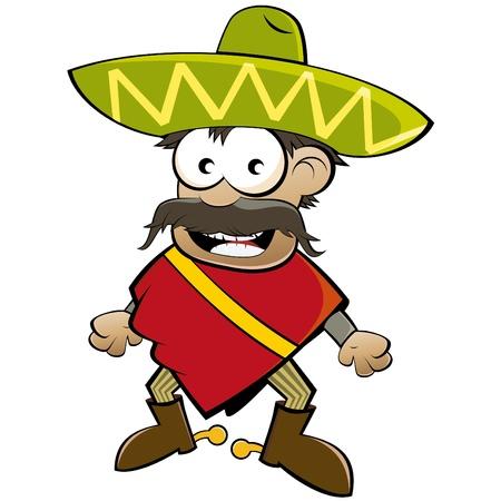 sombrero: funny cartoon Mexicaanse  Stock Illustratie