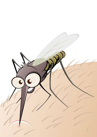 prick: nasty cartoon mosquito Illustration