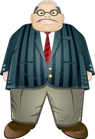 boos cartoon chief Vector Illustratie