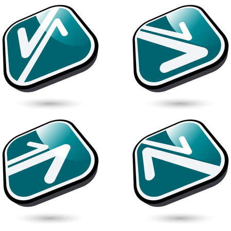 modern arrow sign collection in 3d Stock Vector - 8842337