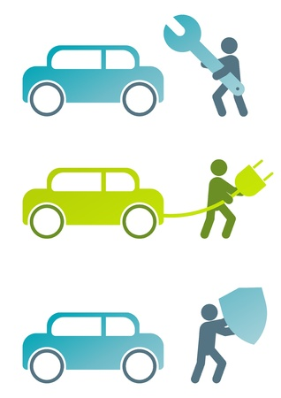 onderhoud auto: moderne auto teken collectie