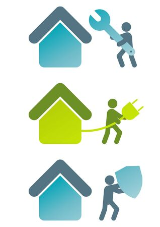 modern house sign collection Vector