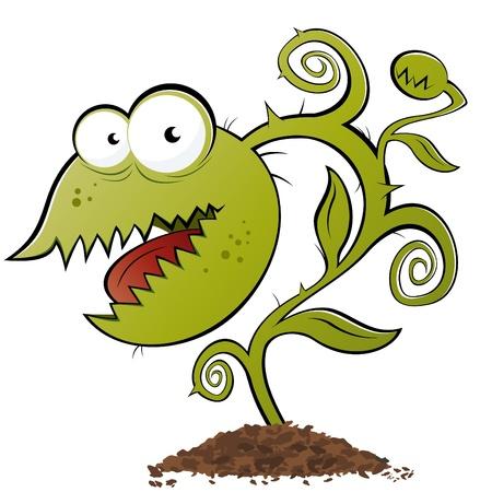 肉食性植物の面白い漫画