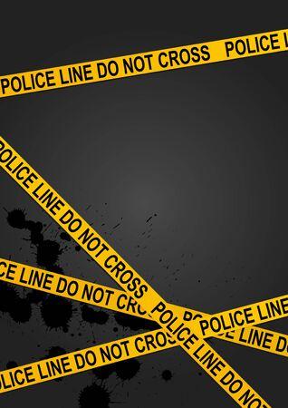 Kriminalität Szene Hintergrund