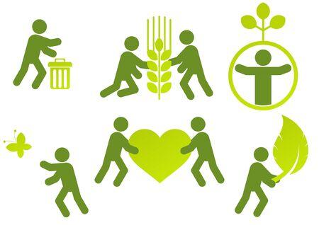 basura organica: colecci�n de signo de hombre moderno de Ecolog�a