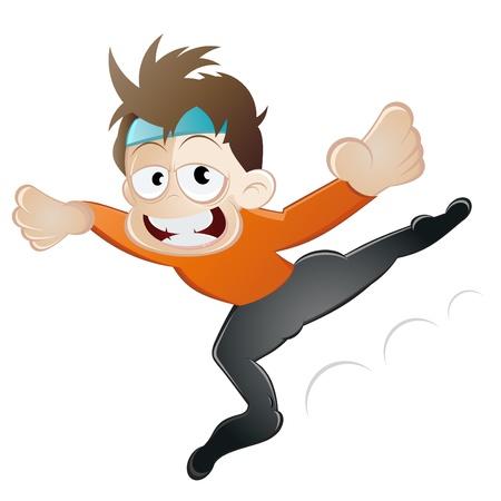 bailarin hombre: bailarina de caricatura divertida