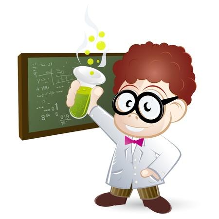scienziati: scienziato cartoon divertente