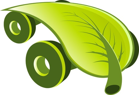 eco car: modern ecology car
