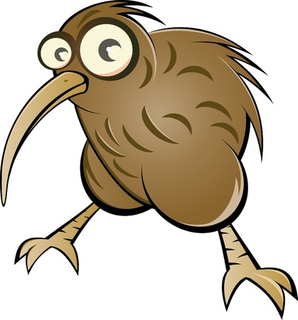 Funny Cartoon kiwi