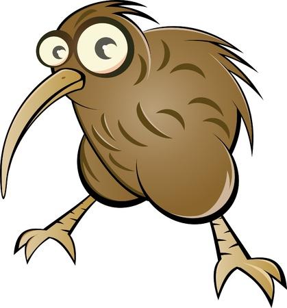 aves caricatura: kiwi caricatura divertida