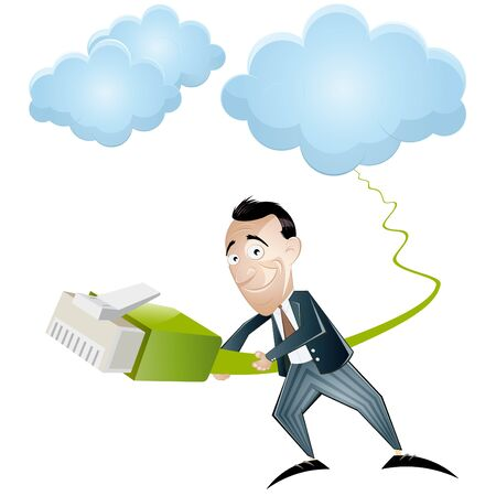 usługodawcy: kreskówka cloud computing