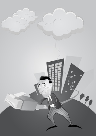 cloud computing cartoon Vector