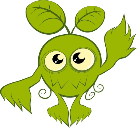 funny cartoon plant monster Stock Vector - 10385762