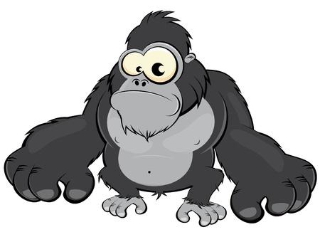 gorilla: gorila de caricatura divertida