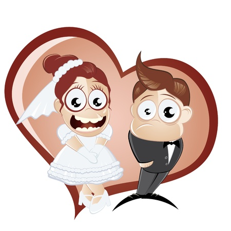 bridegroom: funny cartoon wedding