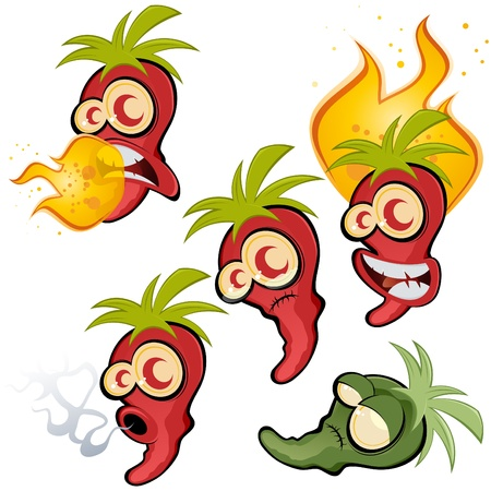 caricatura mexicana: colección hot chili