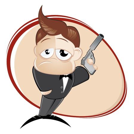 funny cartoon agent Stock Vector - 10374147