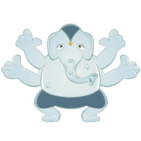 idool: cartoon olifant-god Ganesh