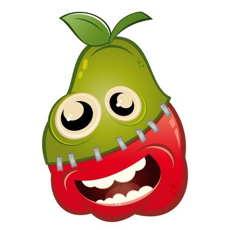 apple pear crossbred cartoon Stock Vector - 10374138