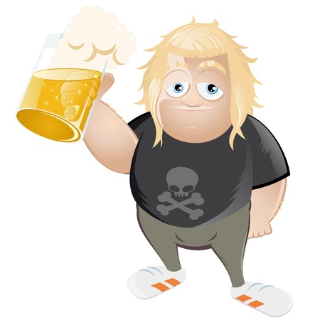 stein: cartone animato divertente rocker Vettoriali