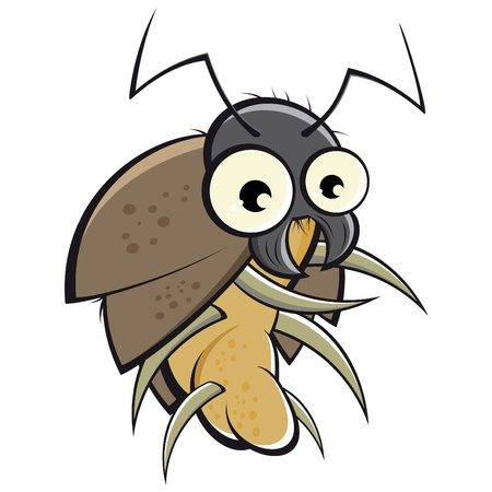 h�sslich: funny cartoon bug