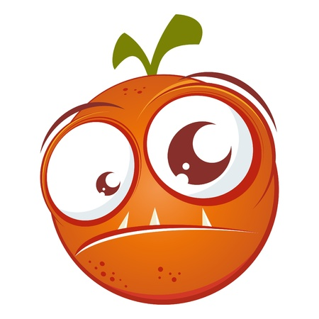 creepy monster: divertente cartoon arancione Vettoriali