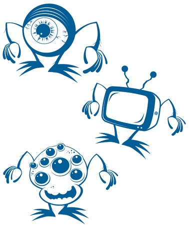 funny alien cartoon collection Stock Vector - 10730986