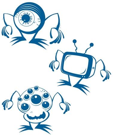 extraterrestrial: funny alien cartoon collection