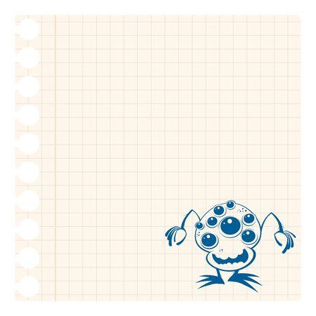 funny cartoon alien scribble Stock Vector - 10730987