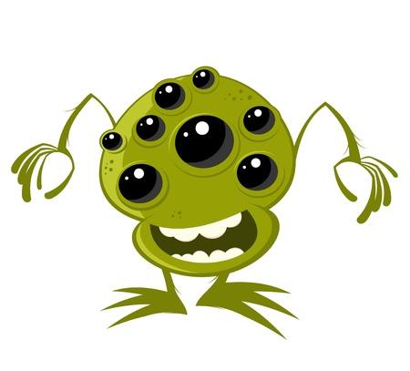funny cartoon alien Stock Vector - 10730976