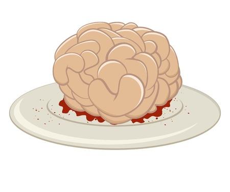 funny cartoon brain Stock Vector - 10865278