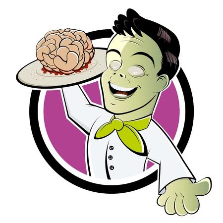 funny cartoon zombie Stock Vector - 10865285