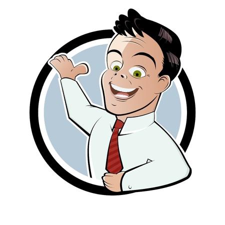 manager: lustigen Comic-Manager