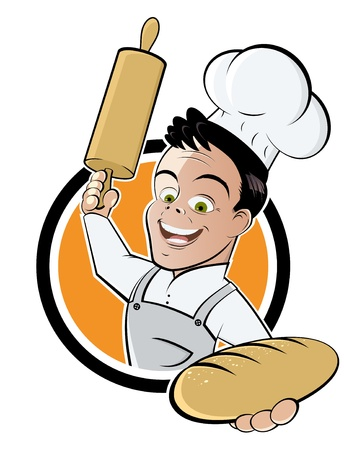 pastries: funny cartoon baker