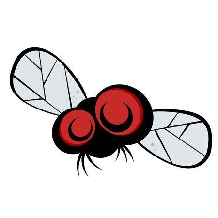 mosca caricatura: mosca de divertidos dibujos animados