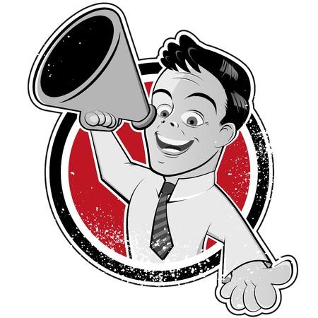 publicit�: l'homme m�gaphone mill�sime