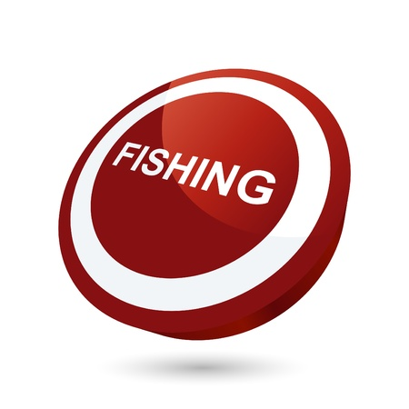 modern fishing sign Vector