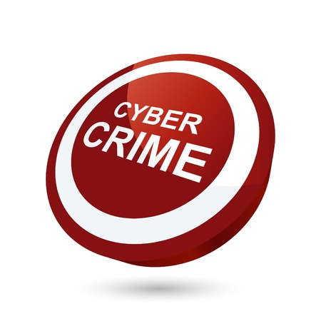 cyber business: modern cyber crime sign