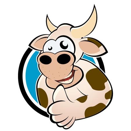 funny cartoon cow Illustration