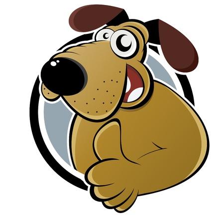 grappige cartoon hond Stock Illustratie